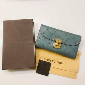 LOUIS VUITTON Mahina Amelia Wallet Blue With Box